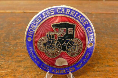 Vintage 1937 Original Horseless Carriage Club of America Porcelain Enamel Emblem