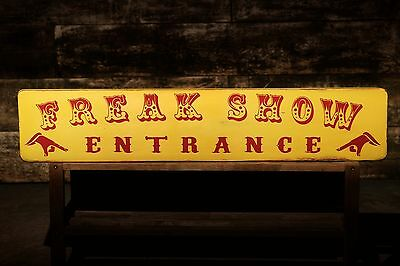 Freak Show Vintage Circus Wood Sign Oddities Curiosities Carnival Retro ](Freak Show Sign)