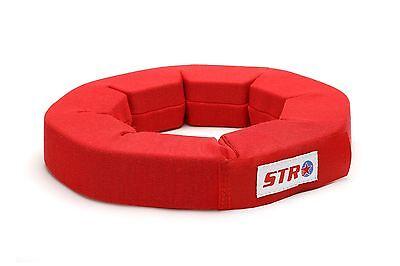 STR SFI Approved Neck Support Brace Collar, Oval Race Kart Saloon F2 - Med Red