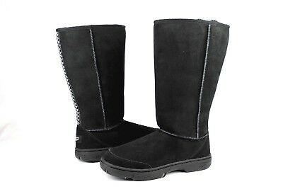 UGG ULTIMATE TALL BRAID BLACK TWINFACE SHEEPSKIN COLD WEATHER BOOTS SIZE 11 US, used for sale  Ventura