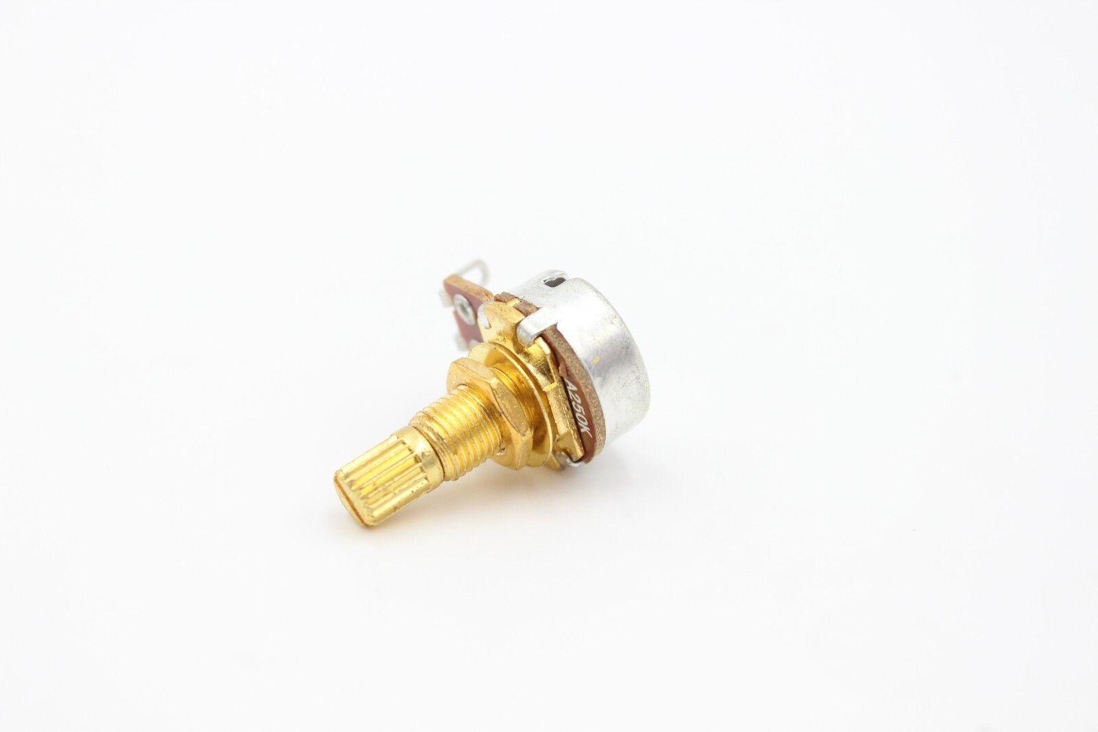 1 A250 Audio Taper Gold Strat Mini Volume Pot 18mm Shaft For Guitar - $5.99