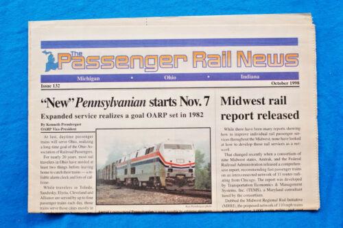 The Passenger Rail News - Michigan - Ohio - Indiana - Oct, 1998