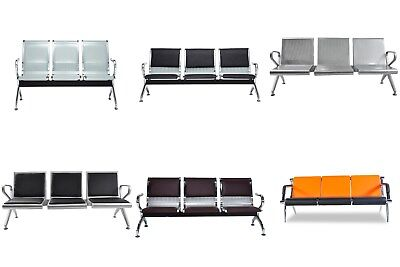 6 Color Salon Guest Waiting Room Bench 3 Seat Airport Reception Chairs Stools