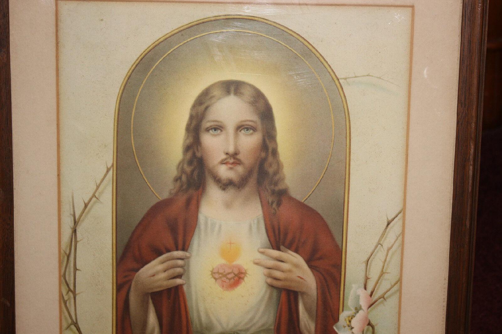 VINTAGE JESUS CHRIST Religious Christianity Color Print-Framed-Crown ...