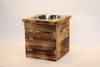 Single XL Elevated Dog Dish XL Feeding Stand  Dog Dish  Elevated Pet Feeder