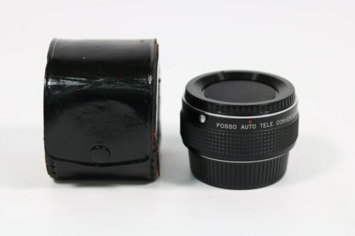 Posso Auto Tele Converter 2x Multi-Coated Adapter Lens Made In Japan