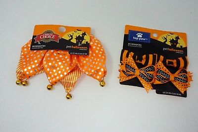 Top Paw Halloween Pet Dog Hairbows and Great Choice Bell Accessory Collar](Great Dog Halloween Costumes)