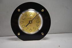 VINTAGE MID CENTURY HOWARD MILLER  LUCITE  TABLE ROUND  CLOCK