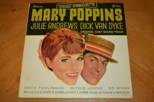 ONE OF A KIND ERROR MARY POPPINS SOUNDTRACK RECORD COLORS RUN MISPRINT SEE PICS