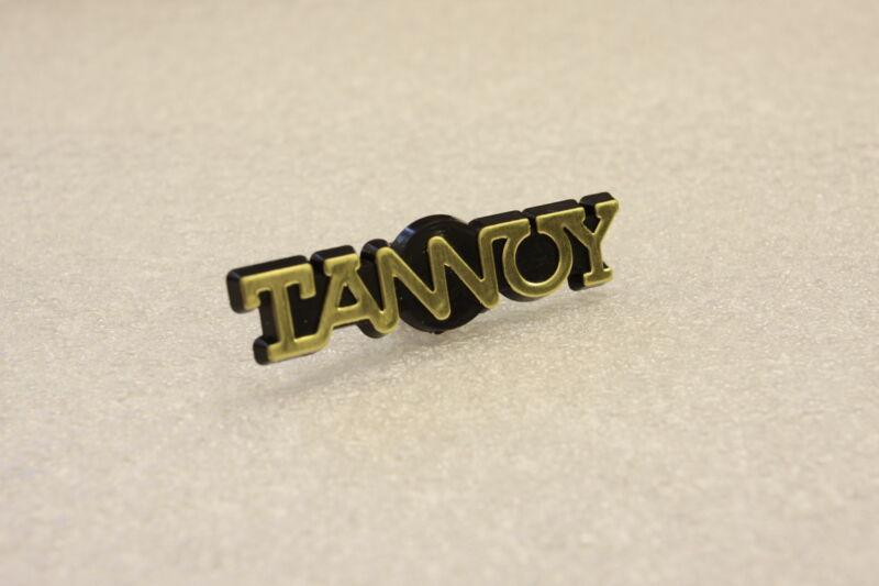 For Replacement Tannoy Plastic  Golden Logo Emblem Badge