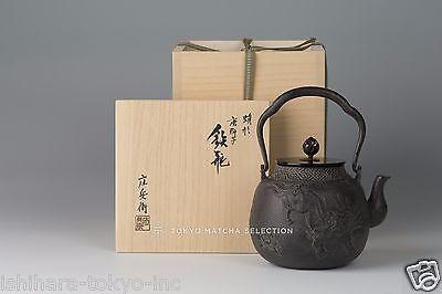 [Premium grade] Takaoka Tetsubin : Guardian Lion - Japanese Iron Tea Kettle Pot