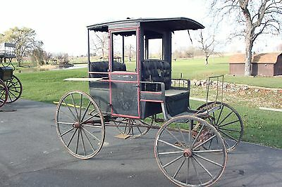 Details about  /Antique Single Horse Doctors Buggy Wagon Vintage Horse Drawn CarriageEquestrian