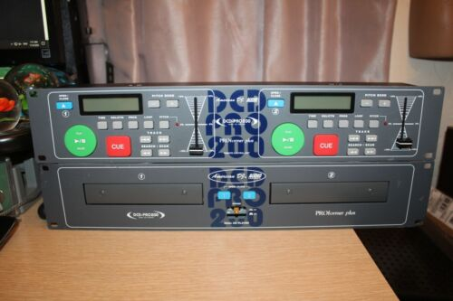 AMERICAN DJ AUDIO DCD-PRO200 Dual Compact Disc Player Pro Former Plus READ AS IS