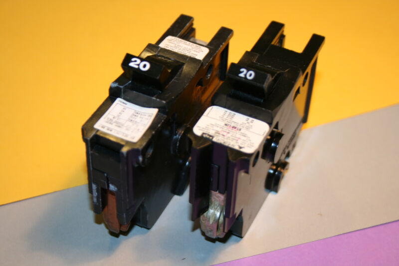 1 FEDERAL PACIFIC / AMERICAN MAKE 20 AMP 1-POLE TYPE NA BREAKER WIDE