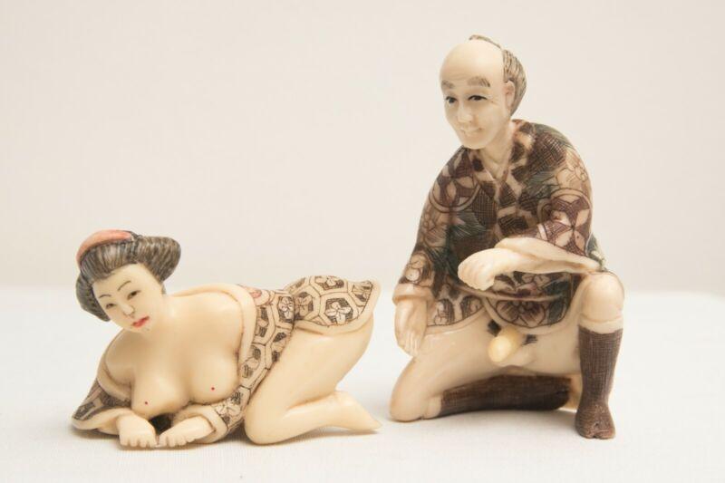 Japanese Netsuke erotic figurines