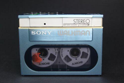 Pristine Blue Sony Walkman WM-20 - Serviced with New Belt and Working Perfectly