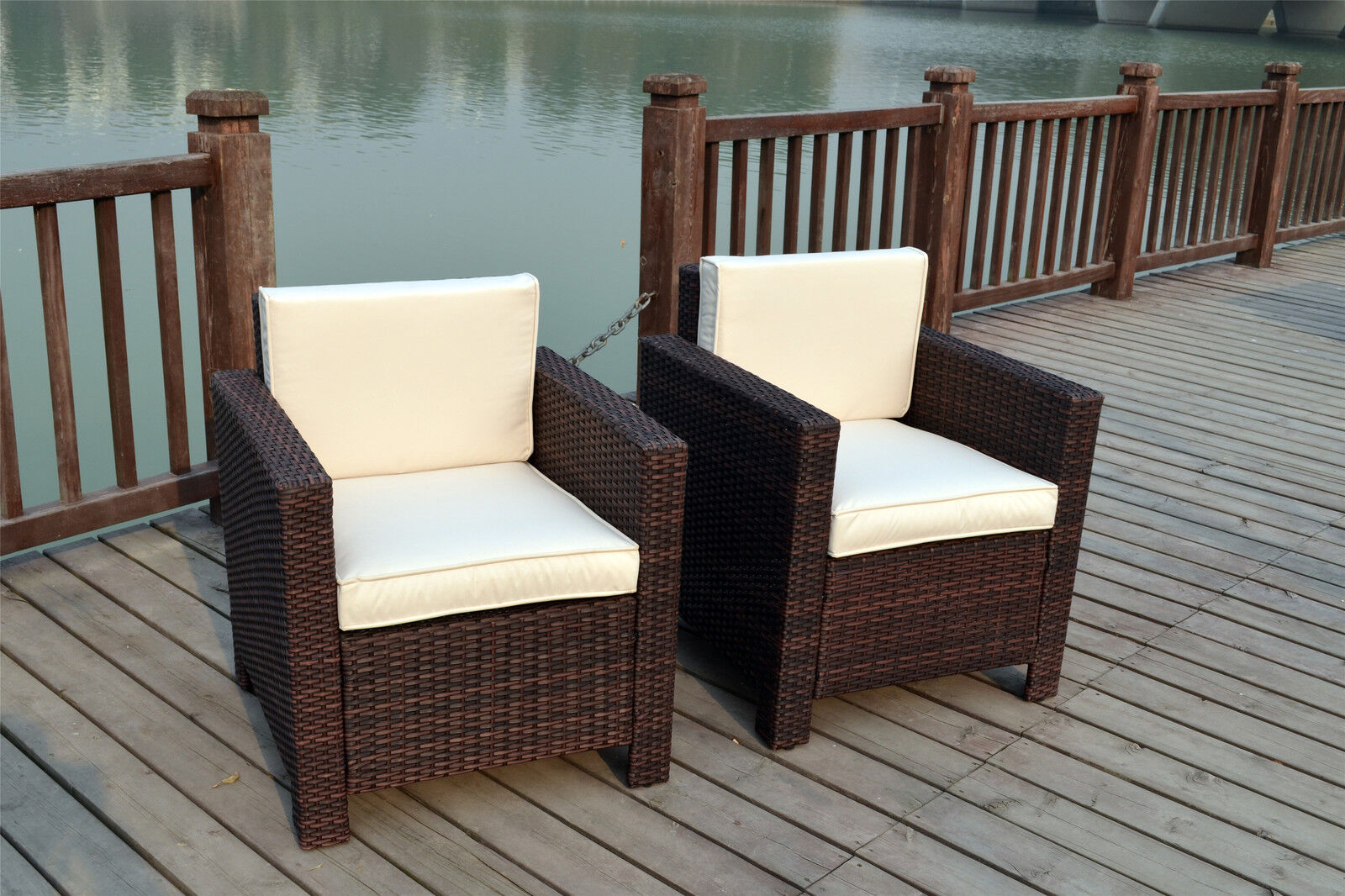 NEW SINGLE CHAIRS RATTAN WICKER CONSERVATORY OUTDOOR