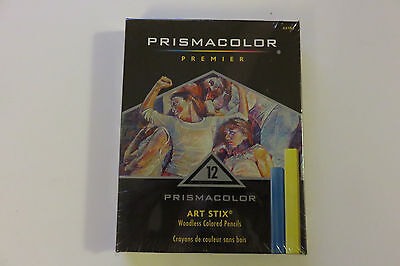 Prismacolor Premier 12 Art Stix Woodless Colored Pencils Drawing Supplies NEW - Prismacolor Art Stix