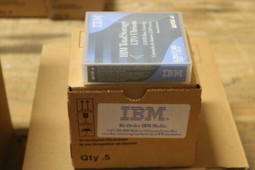 BOX OF 5 NEW IBM, LTO-6 Tape Media  P/N 00V7590 6.25TB TO 2.50TB