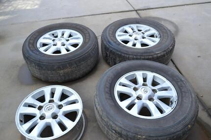 """LANDCRUISER 200 SERIES 17"""" WHEELS AND TYRES Tumut Tumut Area Preview"""