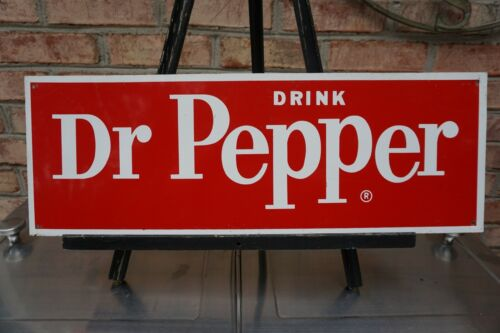 1954-57 Vintage Dr. Pepper Sign Tin Antique Advertisement