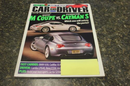 CAR AND DRIVER BMW M COUPE VS. PORSCHE CAYMAN S AUGUST 2006 VOL.52 #2 9248-1