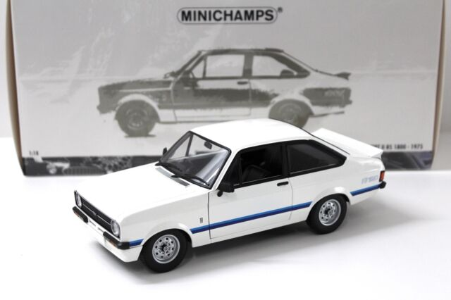 1:18 Minichamps Ford Escort RS II 1800 white 1975 RHD NEW bei PREMIUM-MODELCARS