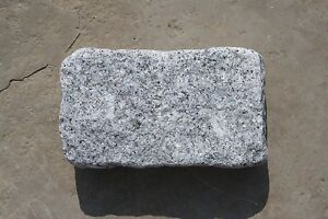 Silver Grey Granite Setts/Cobbles Tumbled- Natural Stone- 200mm x 100mm- SAMPLES