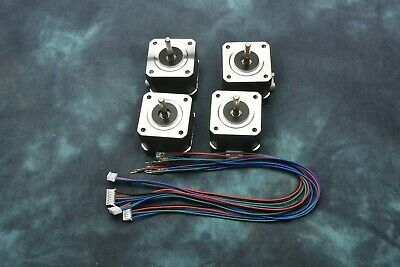 Set Of 4 Nema-17 42mm 2-phase Hybrid Stepper Motor With Cables