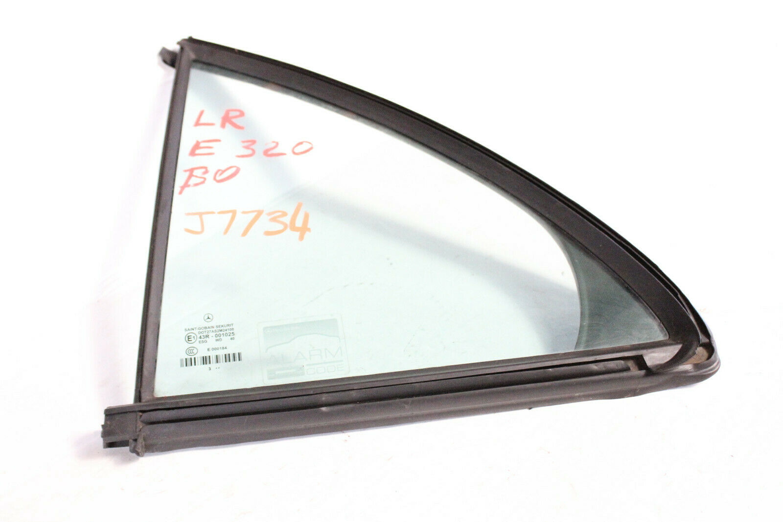 2003-06 MERCEDES W211 E320 E500 SEDAN REAR LEFT SIDE QUARTER WINDOW GLASS J7734