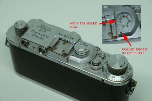 LEICA IIIA 1936 rangefinder iii a - UNIQUE SHUTTER DIAL TOP PLATE - partial CLA