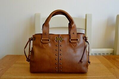 HIDESIGN BY RADLEY TAN LEATHER TOP HANDLE GRAB STYLE HANDBAG WITH DUSTBAG