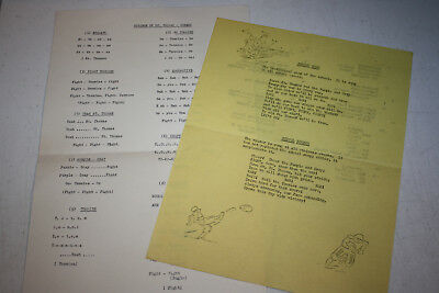 Vintage 1950S Minnesota St Thomas Tommies Cheerleader Cheer List And Fight Song