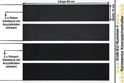 2x Top Qualität Klettband Für Kennzeichenhalter Nummernschildhalter 52x11cm (39