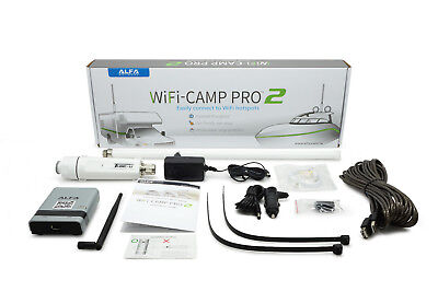 Alfa WiFi Camp Pro 2 long range WiFi repeater kit R36A + Tube Booster + Antenna