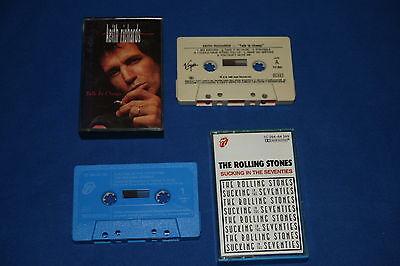 11 alte Musikkassetten von den Rolling Stones , Mick Jagger und Keith Richards
