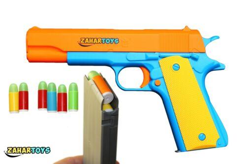 Orange Barrel Realistic 1:1 Colt 1911 Kids PlayToy Gun Pistol Shooting 10 Bullet