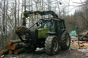 Valtra Valmet 8550 Roof Mounted Timber Crane Botex Trailer