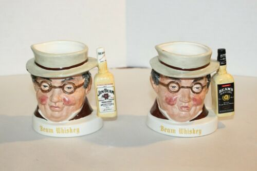 2 Vintage Small Royal Doulton Mr. Pickwick Jim Beam Character Jugs
