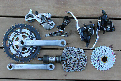 Vintage Shimano Deore LX/XT Mountain Bike Drivetrain Groupset 3x7 Speed