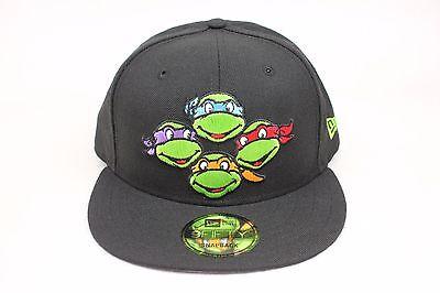 Teenage Mutant Ninja Turtles Black Green Faces Logo New Era 9Fifty Snapback Hat
