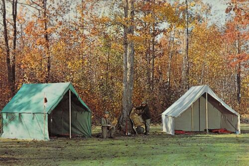 BOY SCOUTS OF AMERICA - WALL TENTS #2288 2289 2200  6x9 1960s postcard AD BACK