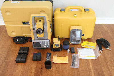 Topcon Ps-101a 1 Robotic Total Station Kit Tesla Data Collector Rc-5 Magnet