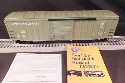 "Lionel 6-17265/ BC Modern 50' U.S. ARMY Voltmeter Box Car ""O"" Gauge MINT IN BOX"