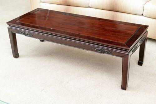 Rectangular Elmwood Ming Style Low Coffee Table