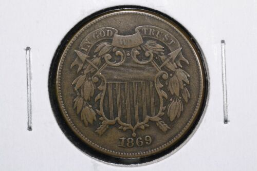 1869 Two Cent Piece, Very Fine