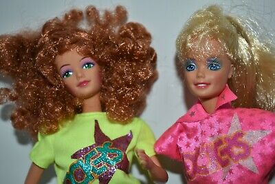 Barbie and Diva of The Rockers, Dancing Action Dolls, 1987