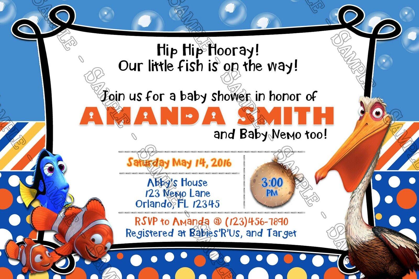 finding nemo baby shower shower invitations 15 printed w