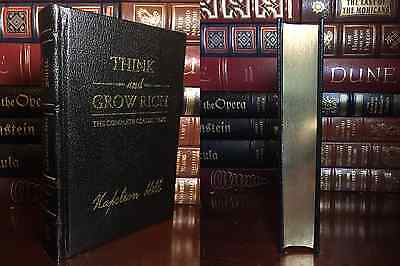 Think and Grow Rich by Napoleon Hill New Sealed Deluxe Hardcover Leather Bound