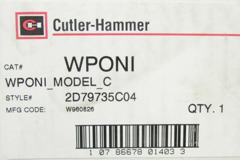 Cutler Hammer Interface Control Wponi Model C 2d79735c04